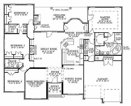 Home Plans Theater Room   Home DecorBut Even With Its Smaller Footprint It Still Squeezes In A Home Theater Living