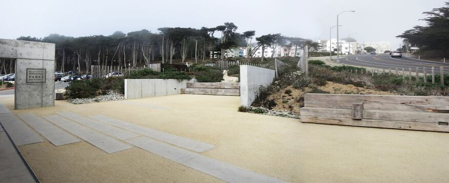 At the Lands End Visitor Center in San Francisco, SurfaceDesign worked with local firm EHDD.