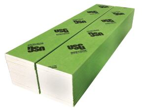 "USGs Sheetrock glass-mat liner panels feature a noncombustible, moisture- and mold-resistant gypsum core encased in moisture- and mold-resistant (ASTM D3273 score of 10) glass mats. They can be used in any fire-rated cavity shaft wall and separation wall system assembly where regular Sheetrock gypsum liners are specified. The 1""-by-24"" panels feature double-beveled edges and are available in 8', 10', and 12' lengths, as well as custom lengths. They also comply with ASTM C1658, C1396, ASTM E136 (noncombustible gypsum core) and ASTM E84 (flame spread 20, smoke developed zero), and are UL-classified for fire resistance, surface-burning characteristics, and noncombustibility. usg.com"