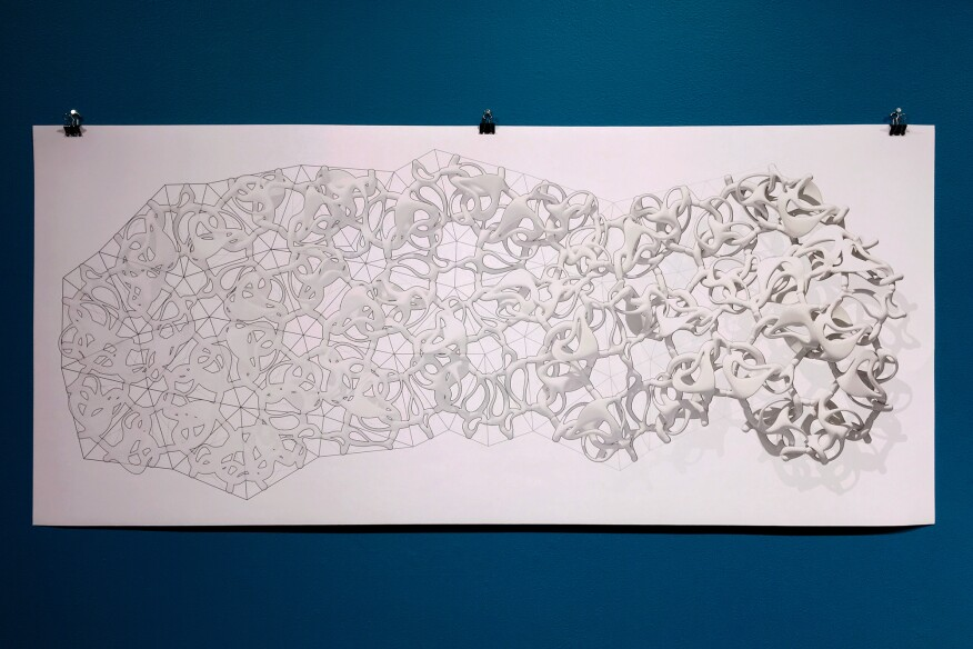 """Polymorph Swath"" network diagram, Jenny Sabin"