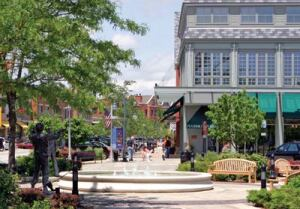 Built on the site of a former naval air station, the Glen Town Center in Glenview, Illinois, blends 154 townhomes with two mixed-use buildings containing apartments and retail shops. www.theglentowncenter.com