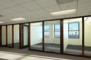 Afternoon lighting conditions in a typical perimeter office at the Empire State Building after the lighting retrofit