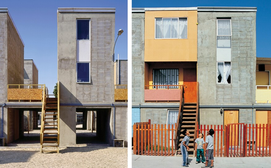 Quinta Monroy Housing in Iquique, Chile