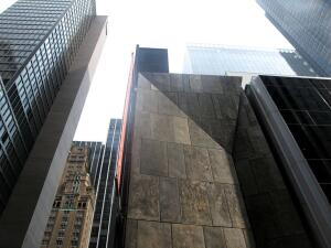 American Folk Art Museum building, New York, designed by Tod Williams Billie Tsien Architects.