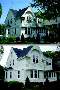 What a difference a spray makes: Spray-on coatings appeal to homeowners seeking a low-maintenance exterior.