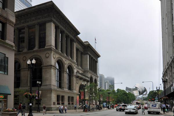 The Chicago Cultural Center (left) will be the hub of activity for the Biennial, to be held in October 2015.
