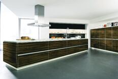 Glass Replaces Exotic Wood for Cabinet Maker ALNO