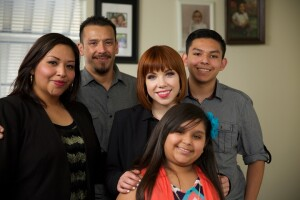 Singer Carly Rae Jepsen visits the Duarte family in Los Angeles as part of the Make Room campaign.