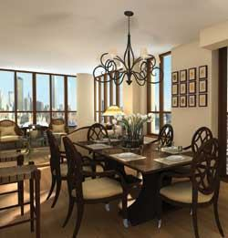 Michael Graves adds his signature touch to the dining rooms at Maxwell Place on the Hudson.