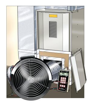 Performance testing is critical for right-sized HVAC systems, since theyre operating within a narrower margin of error in terms of design cacluations. Tight ducts and air-handling equipment are keys to overall performance, so make sure to run duct blaster tests to assure air leakage rates of 3% or less of gross air flow.