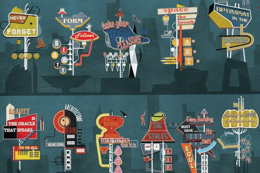 Federico Babina Dresses Up Architect Quotes Vegas-Style