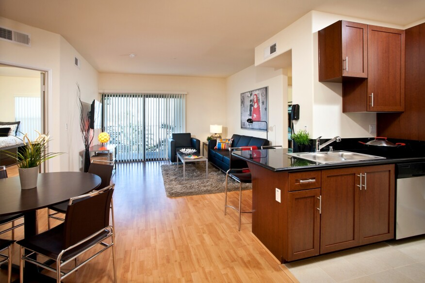 Open plan design at Lorenzo student housing