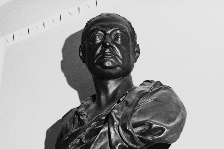 A bust of Nicholas Hawksmoor by his contemporary, Henry Cheere
