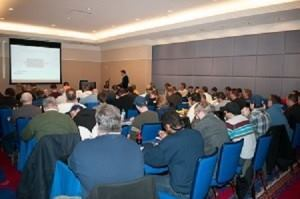 Study hall: Baystate Pool Supplies' 2015 Opportunity Days Exhibitor Show included educational seminars, such as this one at Mohegan Sun in Connecticut. (Photo courtesy Baystate)