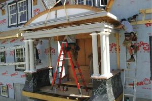Shop-Built Portico for a Shingle-Style Home