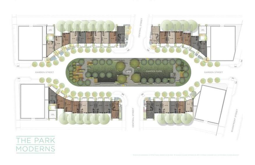 A planned housing development, The Moderns, within the Bridge District