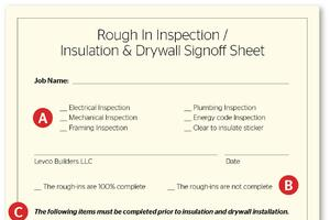 No Regrets: Pre-Drywall Inspection