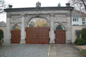 Entrance gate to the Bosch residence in Stuttgart.