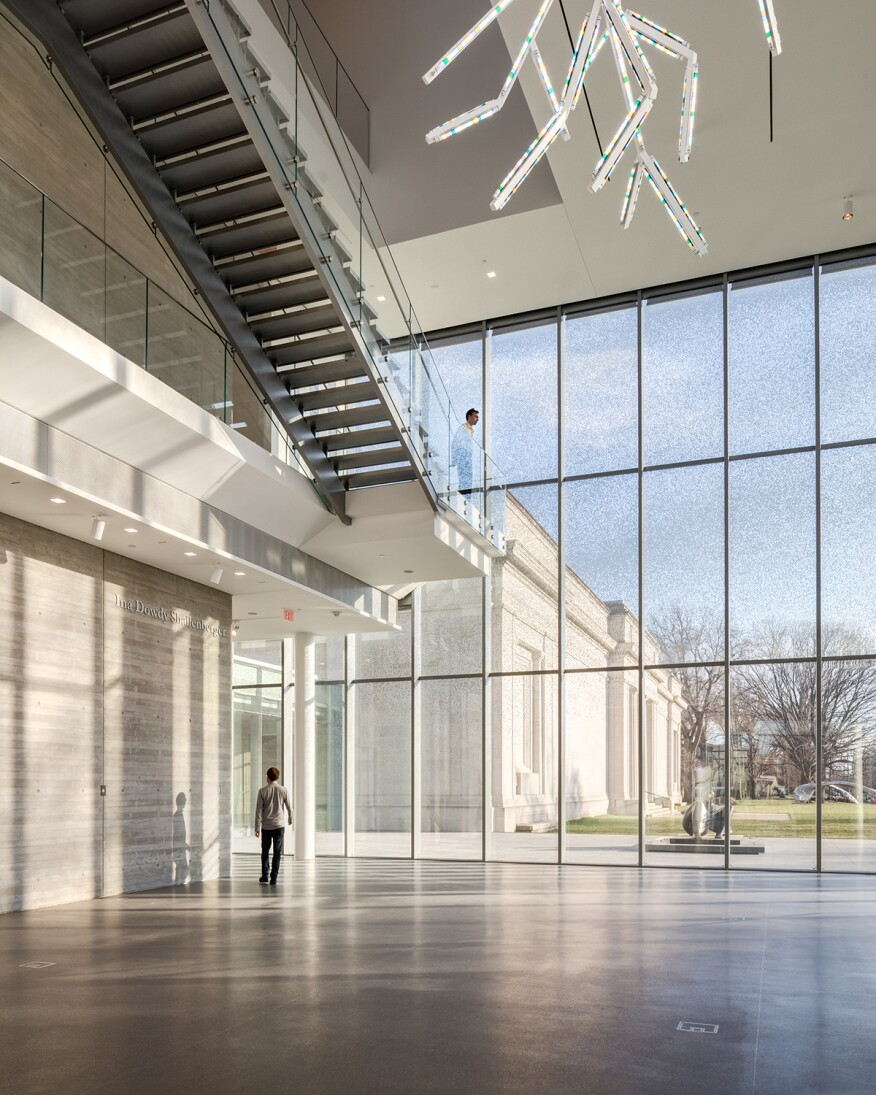 North Pavilion lobby with view of original building
