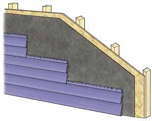 Figure 13. Vinyl siding is one of the easiest sidings to remove and replace. Be careful if working in cold weather, though, as some vinyl becomes brittle.