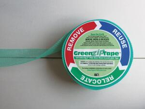 "Green-Zips drywall joint Tape Partition allows for quick reconfiguration based on a building occupants needs, allowing drywall to be disassembled and reused quickly and quietly. The tape is installed over a drywall joint and has a 3"" pull-tail that can be covered by carpet or base trim. When it comes time to move the drywall, the tape can be removed to expose the screws. According to Green-Zip, the process allows for seamless drywall that is demountable and more affordable than pre-manufactured movable walls. It also facilitates opening walls to make repairs, run new data cables, or dry the inside in order to combat such problems as air conditioning condensation. green-zip.com"