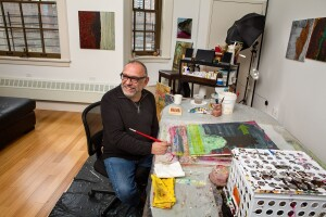 Rene Maynez is among the artists living at the recently opened El Barrio's Artspace PS 109. (Photo: James Shanks)