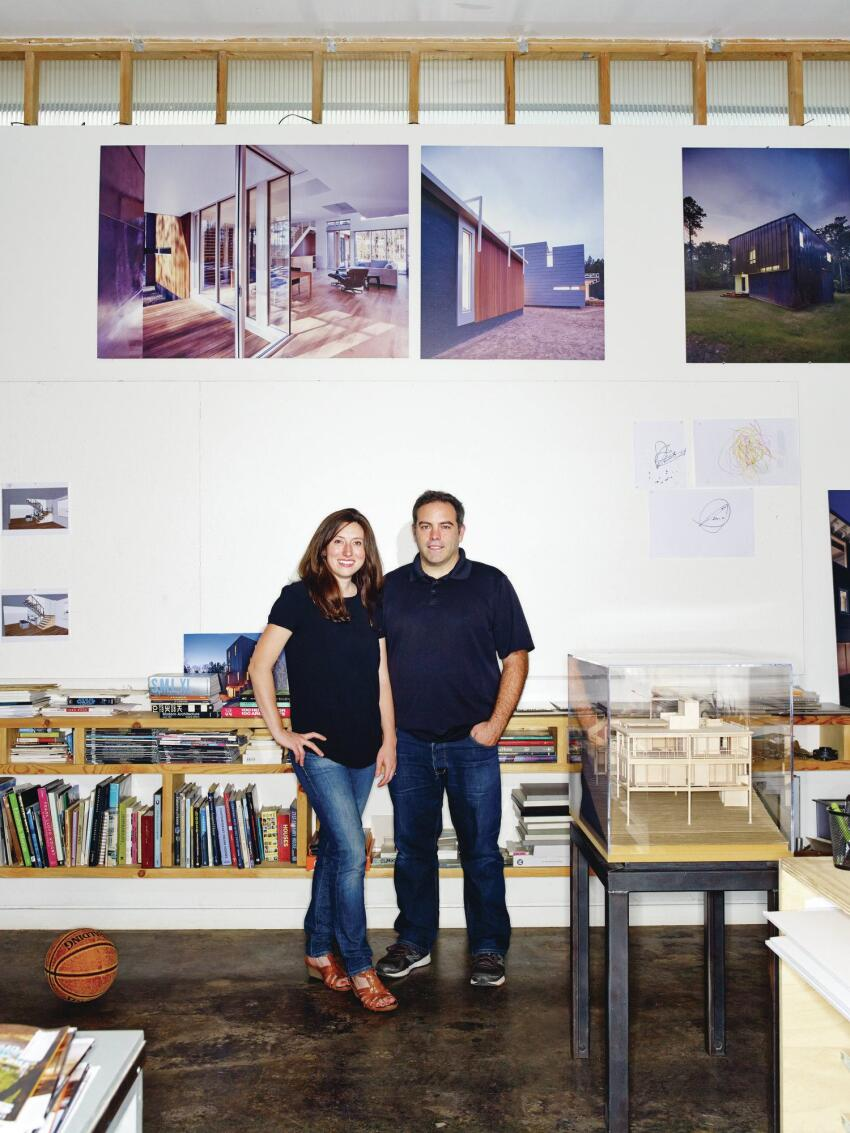 Katherine Hogan and Vincent Petrarca of Tonic Design | Tonic Construction, in their Raleigh, N.C., studio.