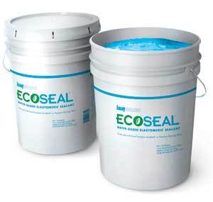 """SPRAYED-ON CAULKING:"" Knauf's EcoSeal applies like a thick paint and is intended for use when a builder needs to seal a large amount of the building envelope."