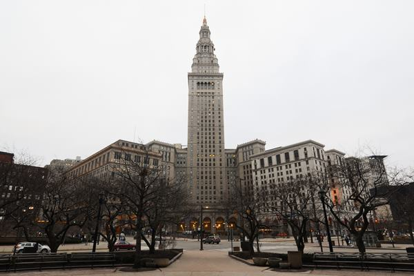 A view of Cleveland's downtown Public Square, site of the 2014 IES Research Symposium.