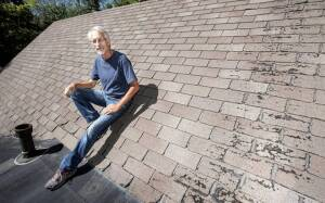 Urbana, Illinois, Alderman Dennis Roberts was ordered by his insurance company to replace the roof on his house or face cancellation of his homeowner's policy.