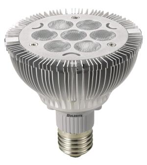 LED PAR30 and LED PAR38    Bulbrite  bulbrite.com  Superhigh-power dimmable bulbs - PAR30 produces 500 lumens and is a direct replacement for a 65W BR30 or a 50W PAR30 halogen bulb - LED PAR38 produces 743 lumens and is a direct replacement for a 100W BR40 or a 75W halogen PAR38 bulb - Available in warm white with a color rendering index of 83 - 50,000-hour operating life