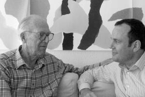 Jørn Utzon and Richard Evans, former CEO of the Sydney Opera House