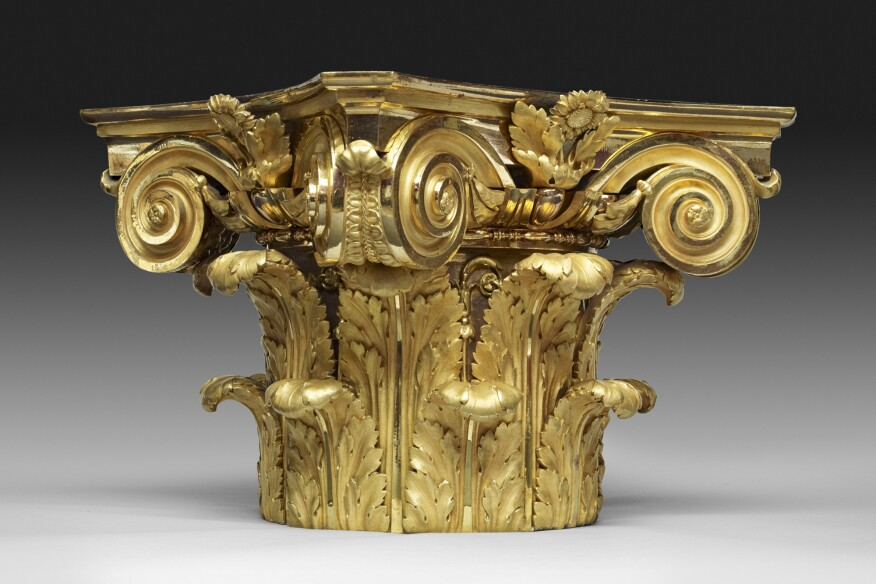 """Column Capital"" by Pierre Gouthière, likely designed by François-Joseph Bélanger (ca. 1775−80)"