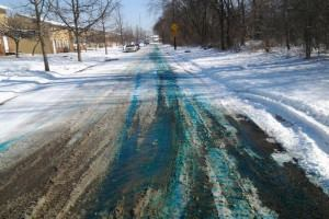 Tinted Road Salt Could Mean Happier Residents