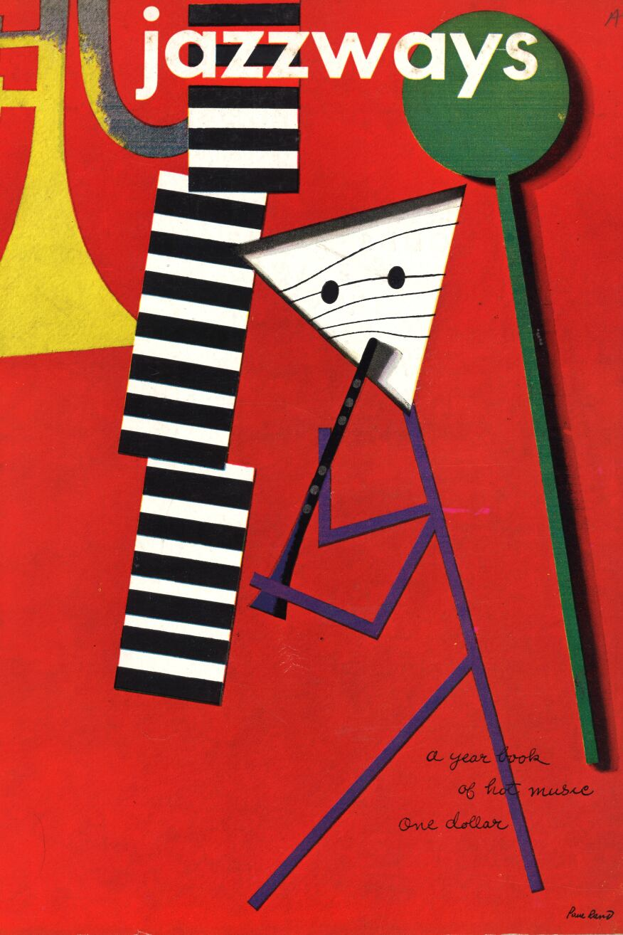 Jazzways magazine, Volume 1, 1946, with cover design by Paul Rand.