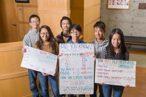Youths at Chinatown Community Development Center project in San Francisco embraced the water conservation competition by making posters in English and Chinese.