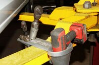 Lift-mounted tool holder for mechanics
