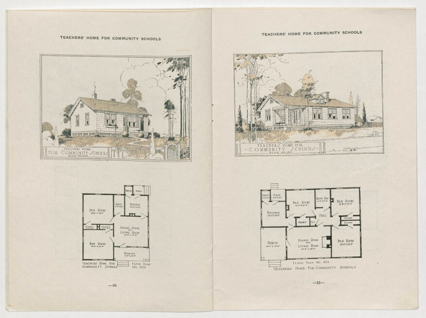 Plans for a teacher's home from the bulletin