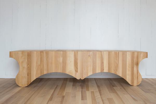 Wood planks make up the Puppy benchfrom Nick Herder, a designer based on Fogo Island.
