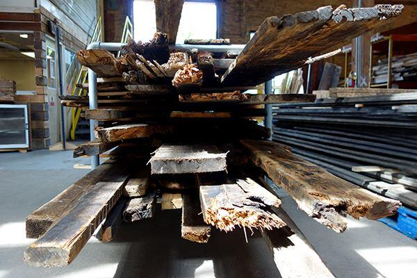 The Rebuilding Exchange sells both old- and new-growth wood.