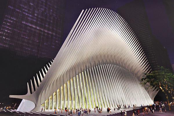 A 2005 artist's rendering provided by the Port Authority of New York and New Jersey shows the plannedWorld Trade Centertransit hub by Calatrava.