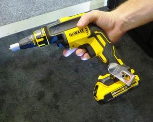 DeWalt brushless drywall gun--somewhere between prototype and production