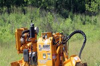 Self-propelled stump grinder with safety option
