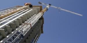 Crane at a construction site