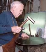 2005 Hall of Fame inductee Marshall Burns may be the last man in the tool industry who can tension a saw blade with a hammer.