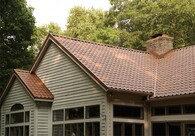 Metal Tile:  CertainTeed offers lightweight, durable steel panel roofing systems.  G90 anti-corrosion coating and exterior PVDF Paint System provide excellent solar reflectance.