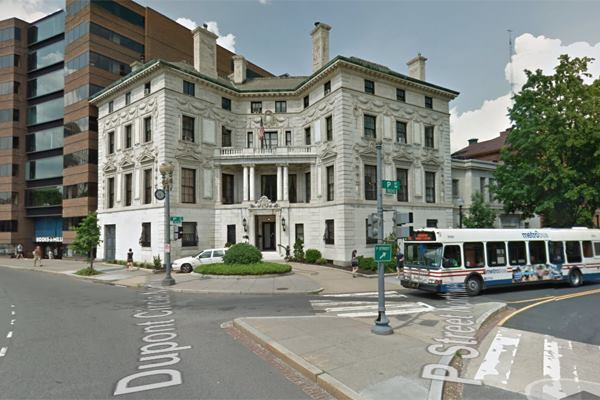 Google Street View image of Patterson Mansion from Dupont Circle.