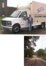 Above: This van and instructor, Kathy Schaefer, travel around Minnesota bringing onsite technical assistance to local agencies as part of the Minnesota LTAP's Circuit Training and Assistance Program. Photo: Minnesota LTAP. Right: According to a recent GAO report on highway safety, the nation's road system consists of 3.9 million miles. Of this total, rural roads account for about 3 million miles—or about 77%. Local agencies have jurisdiction over 2.1 million miles of all rural roads.
