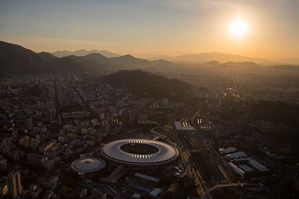 The Maracana stadium in Rio de Janeiro on June 8. The stadium will host the World Cup's final match.