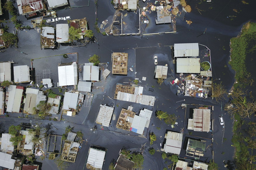 Climate change is causing sea levels and temperatures to rise, expanding hurricane strength, range, and duration. At press time, the 3.4 million residents of Puerto Rico remained without power and with limited access to clean water in the wake of Hurricane Maria (pictured). If we don't decrease CO2 emissions, by 2100 the global mean sea level would rise at least 1 foot and could rise as much as 8 feet, exposing coastal and island populations to even more extreme storms, surge, and flooding.